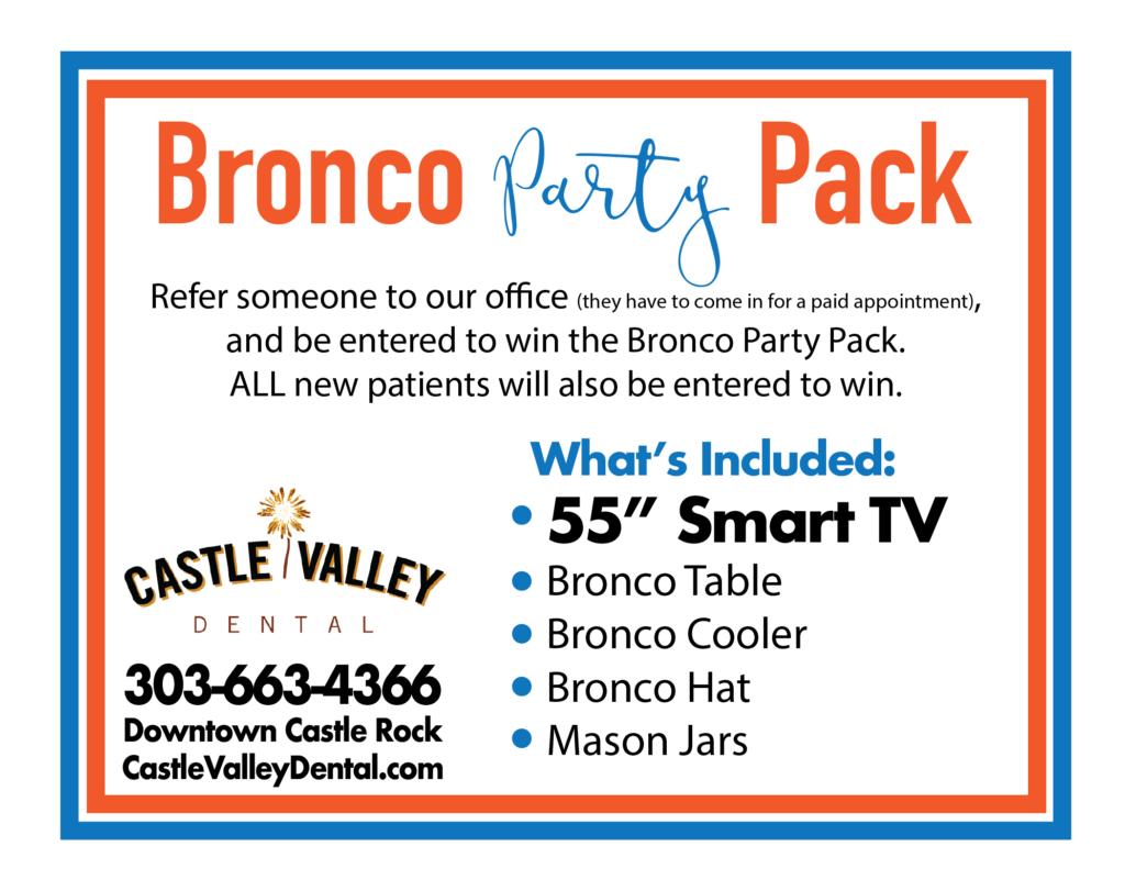 Bronco Party Pack New Patient Promo 2