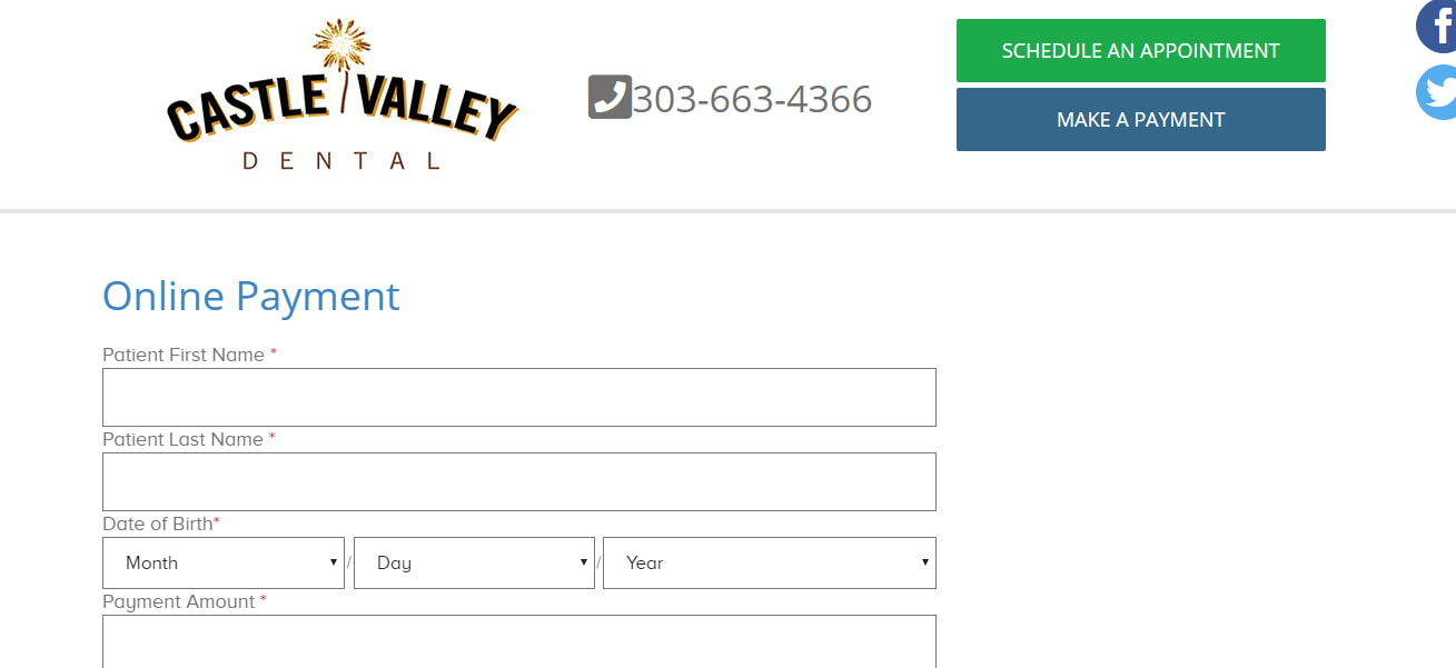 Online Payment at Castle Valley Dental